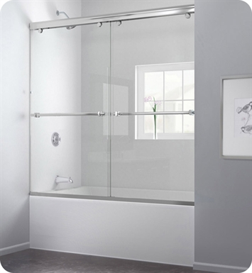 DreamLine SHDR-1360588-04 Charisma Frameless Sliding Tub Door With Finish: Brushed Nickel