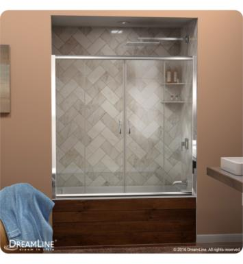 DreamLine SHDR-1160586-01 Visions 56 to 60 in. Frameless Sliding Tub Door With Finish: Chrome