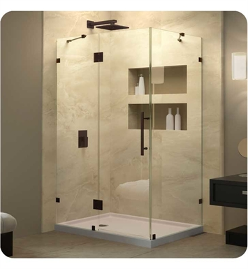 "DreamLine SHEN-1334340-04 Quatra Lux Shower Enclosure With Dimensions: D 34 5/16"" x W 34 5/16"" x H 72"" And Finish: Brushed Nickel"