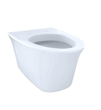 TOTO CT486FG#01 Maris Wall-Hung One-Piece Elongated Toilet, Universal Height 1.6 GPF & 0.9 GPF Dual Flush