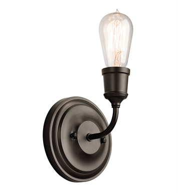 Kichler 45308OZ Lucien Collection Wall Sconce 1 Light in Olde Bronze