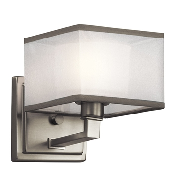 Kichler 45437NI Kailey Collection Wall Sconce 1 Light in Brushed Nickel