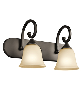 Kichler Feville Collection Bath 2 Light in Olde Bronze
