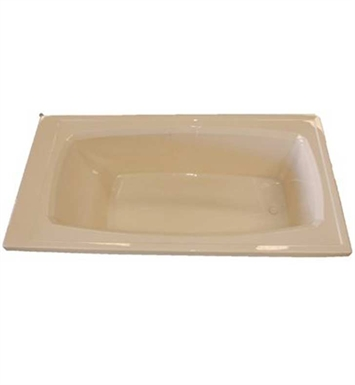 "American Acrylic BR-21W 36""x72"" Rectangular Bathtub With Jet Mode: Whirlpool (8 jets)"
