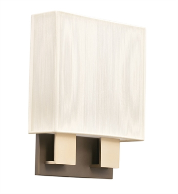 Kichler 10439CPBG Santiago Collection Wall Sconce 2 Light Fluorescent in Champagne