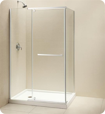 "DreamLine SHEN-1134460-04 Quatra Shower Enclosure With Dimensions: D 34 5/16"" x W 46 5/16"" x H 72"" And Finish: Brushed Nickel"