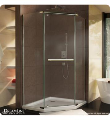"DreamLine SHEN-2136360-04 Prism Frameless Pivot Shower Enclosure With Dimensions: D 36 1/8"" x W 36 1/8"" x H 72"" And Finish: Brushed Nickel"