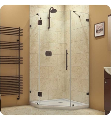 "DreamLine SHEN-2240400-04 PrismLux Neo Angle Shower Enclosure With Dimensions: D 40 3/8"" x W 40 3/8"" x H 72"" And Finish: Brushed Nickel"