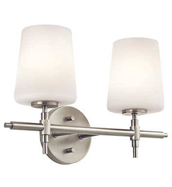 Kichler 45386NI Arvella Collection Bath 2 Light in Brushed Nickel