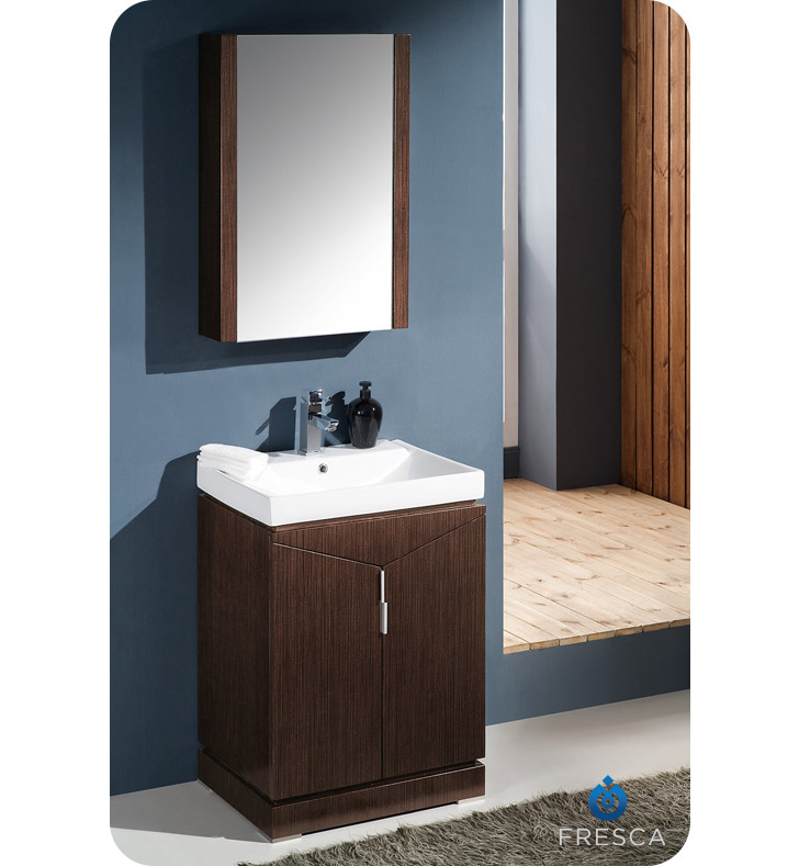 wenge bathroom cabinets fresca fvn8123wg elissos 24 quot modern bathroom vanity with 15035
