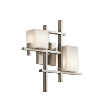 "Kichler 42942CLP City Lights 2 Light 15 1/2"" Halogen Wall Sconce in Classic Pewter"