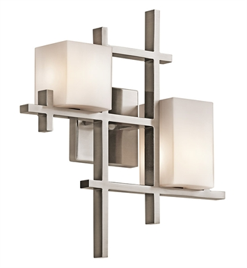 Kichler 42942CLP City Lights Collection Wall Sconce 2 Light in Classic Pewter