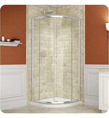 "DreamLine SHEN-7034340-01CL Prime Shower Enclosure With Dimensions: D 34 3/8"" x W 34 3/8"" x H 72"" And Finish: Chrome And Glass Type: Clear Glass"