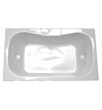 "American Acrylic BR-47A 41 1/2"" x 59 1/2"" Rectangular Bathtub With Jet Mode: Air (16 jets)"