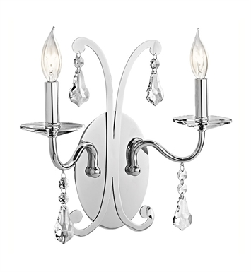 Kichler 42543CH Wall Sconce 2 Light in Chrome