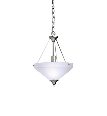 Kichler Ansonia Collection Semi Flush/Inv Pendant 1 Light in Brushed Nickel