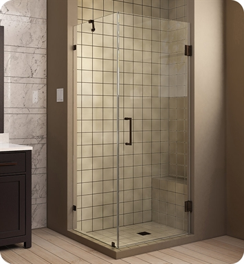 DreamLine SHEN-2330300-04 UnidoorLux Hinged Shower Enclosure With Finish: Brushed Nickel
