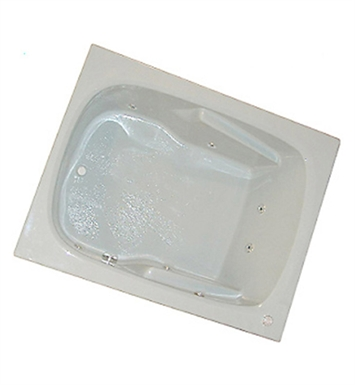 "American Acrylic BRA-48C 48""x60"" Bathtub with Armrest With Jet Mode: Combo (Whirlpool & Air Jets)"