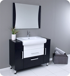 sale fresca fvn3013wg vita 44 modern bathroom vanity with wenge wood finish