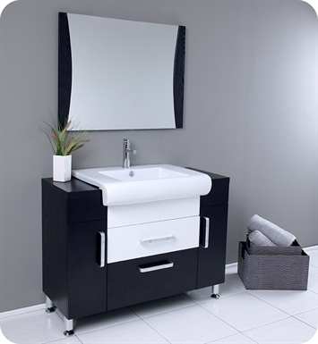 "Fresca FVN3013WG Vita 44"" Modern Bathroom Vanity with Wenge Wood Finish"
