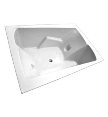 "American Acrylic BRA-54W 48""x71"" Bathtub with Armrest With Jet Mode: Whirlpool (8 jets)"