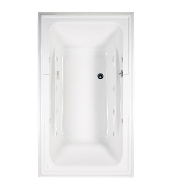 "American Standard 2742.448WC.K2 Town Square 6' X 42"" EcoSilent Combo Massage System Bathtub"