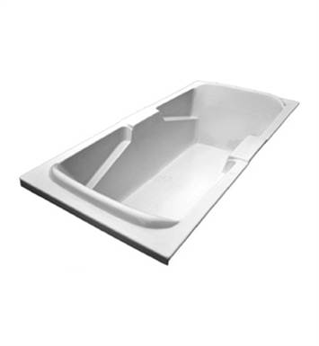 American Acrylic BRA-56A Bathtub with Integrated Armrest With Jet Mode: Air (16 jets)