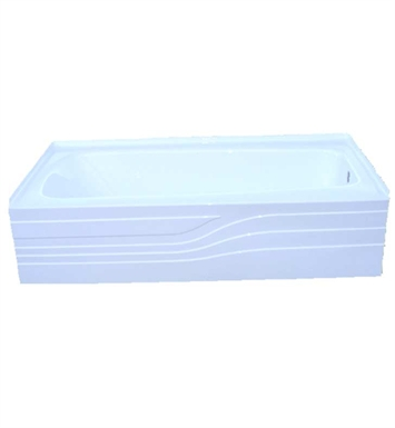 American Acrylic BR-26R Soaker Bathtub with Integrated Skirt With Drain Position: Right Drain