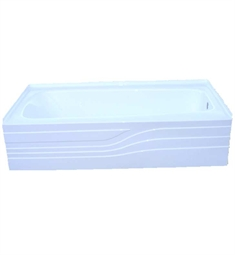 American Acrylic BR-27 Soaker Bathtub with Integrated Skirt