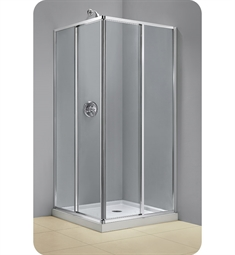 DreamLine SHEN-8134340-01 Cornerview 34 1/2 in. by 34 1/2 in. Framed Sliding Shower Enclosure