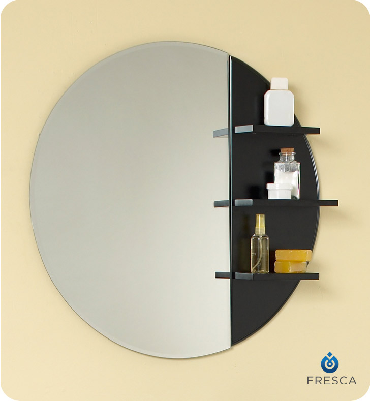 simpatico 26 espresso modern bathroom vanity with mirror and shelves