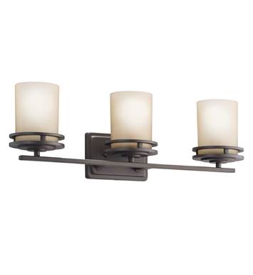 Kichler 5078OZ Hendrik Collection Bath 3 Light in Olde Bronze