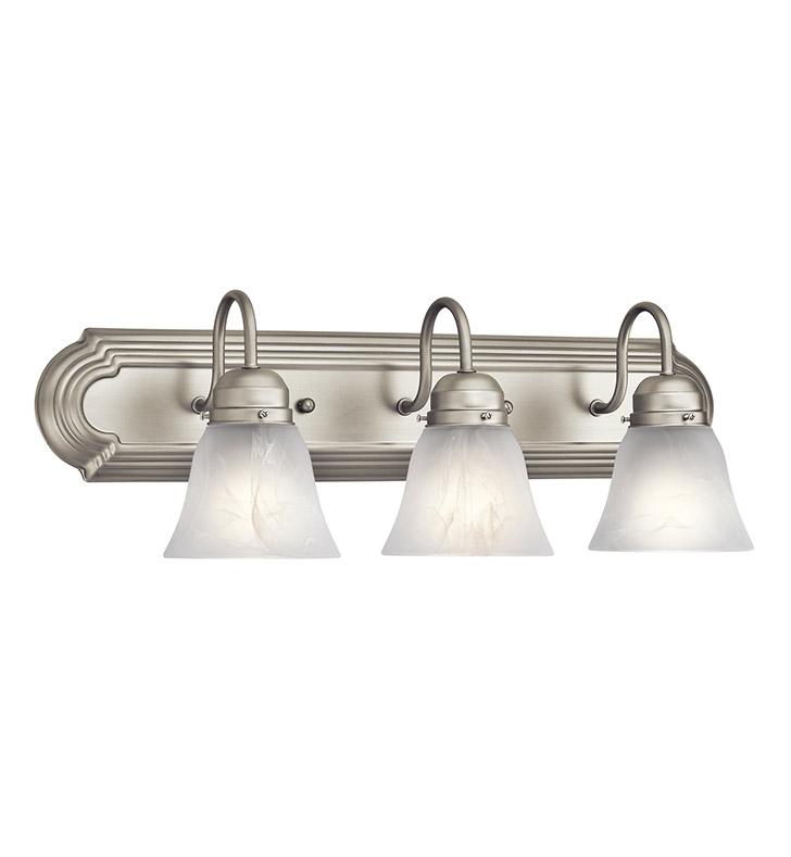 Kichler 5337NI Bath 3 Light In Brushed Nickel