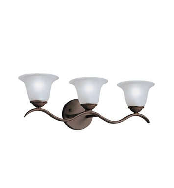 Kichler 6323TZ Dover Collection Bath 3 Light in Tannery Bronze