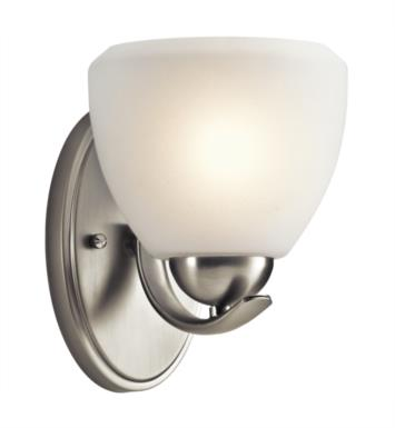 "Kichler 45117NI Calleigh 1 Light 6"" Incandescent Wall Sconce in Brushed Nickel"