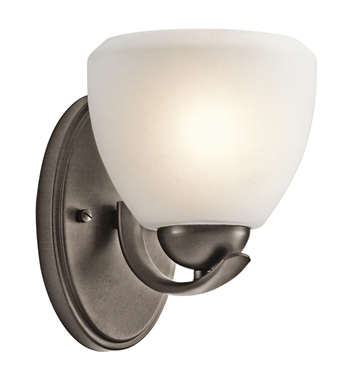 Kichler 45117OZ Calleigh Collection Wall Sconce 1 Light in Olde Bronze