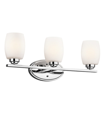 Kichler 5098CH Eileen Collection Bath 3 Light in Chrome
