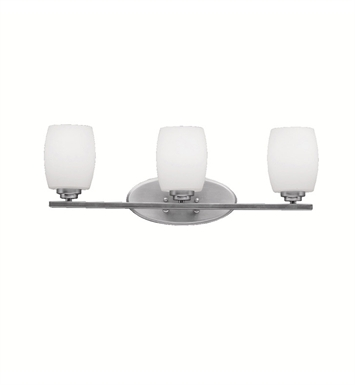 Kichler 5098NI Eileen Collection Bath 3 Light in Brushed Nickel