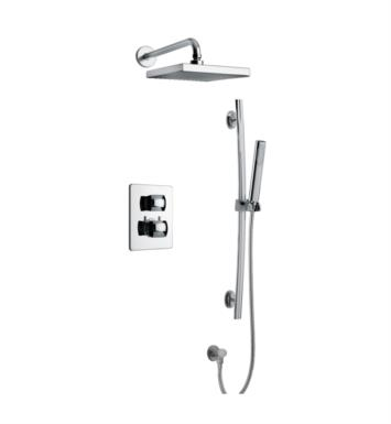 LaToscana LA-OPTION2 Lady Thermostatic Shower System with Two Way Diverter and Slide Bar Kit