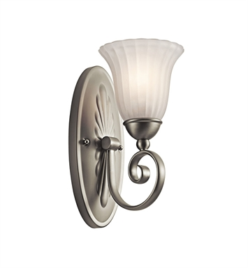 Kichler 5926NI Willowmore Collection Wall Sconce 1 Light in Brushed Nickel