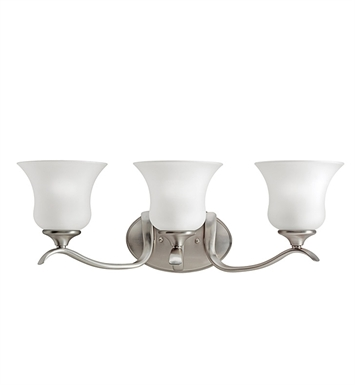 Kichler 5286NI Wedgeport Collection Bath 3 Light in Brushed Nickel
