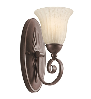 Kichler 5926TZ Willowmore Collection Wall Sconce 1 Light in Tannery Bronze
