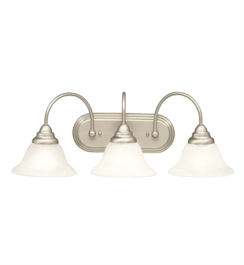Kichler 5993NI Telford Collection Bath 3 Light in Brushed Nickel