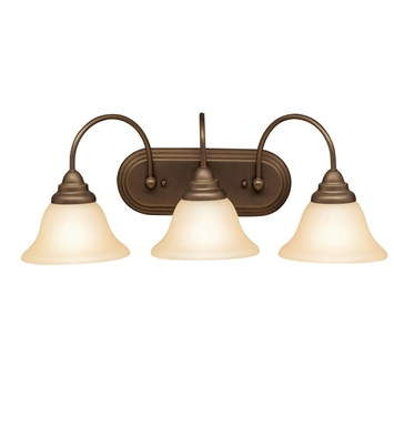 Kichler 5993OZ Telford Collection Bath 3 Light in Olde Bronze