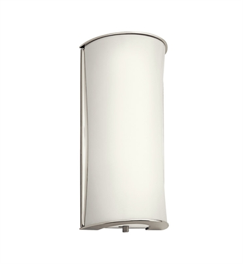 Kichler Wall Sconce 1 Light Fluorescent in Polished Nickel