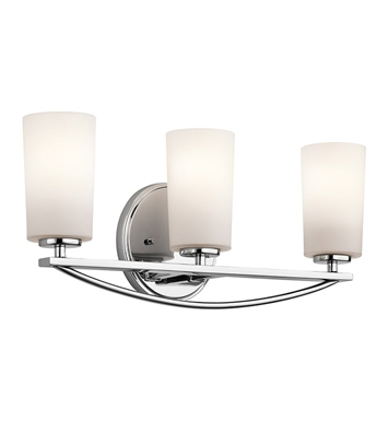 Kichler 45061CH Rousseau Collection Bath 3 Light in Chrome