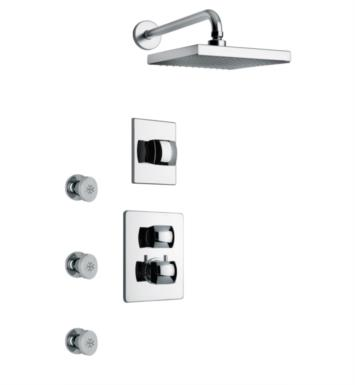 LaToscana LA-OPTION4 Lady Thermostatic Shower System with Three Way Diverter and Three Body Jets