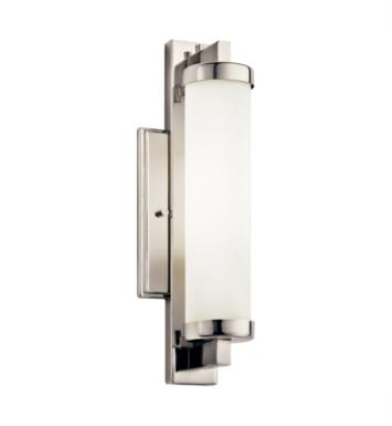 "Kichler 10481PC Jervis 1 Light 4 1/2"" Compact Fluorescent Wall Sconce in Polished Chrome"