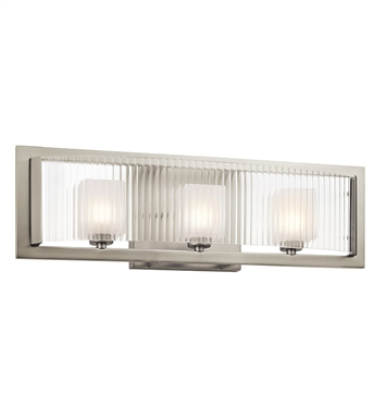 Kichler 45443NI Rigate Collection Bath 3 Light Halogen in Brushed Nickel