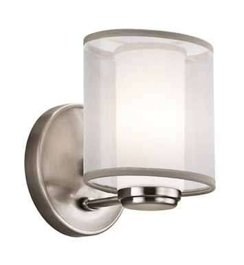 Kichler 42924CLP Saldana Collection Wall Sconce 1 Light in Classic Pewter